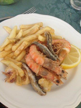 Hotel Villa Barsanti: frittura di pesce voto : 10 !