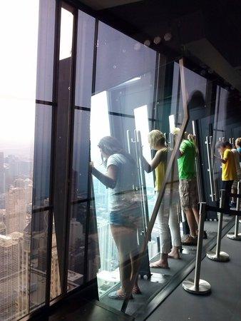 John Hancock Center/Aussichtsetage: TILT