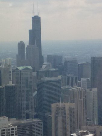 John Hancock Center/Aussichtsetage: Sears/Willis tower frm 94th Hacock