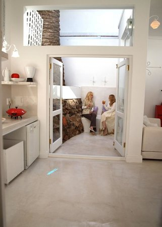 Bella Ev: The Cube - from kitchen leading to private courtyard