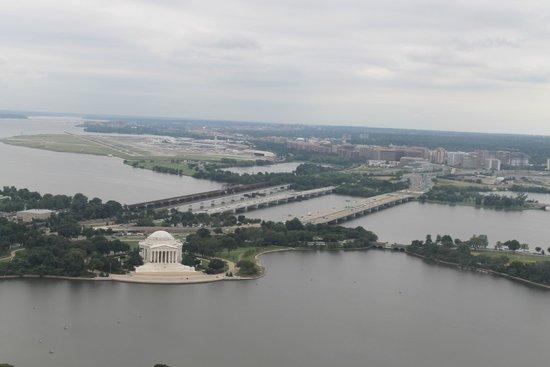 Washington Monument: Jefferson Memorial desde arriba del Obelisco