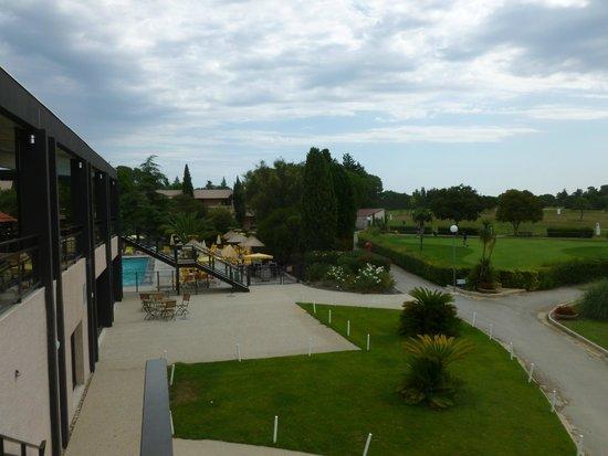 Hotel de Massane : Vue de la terrasse