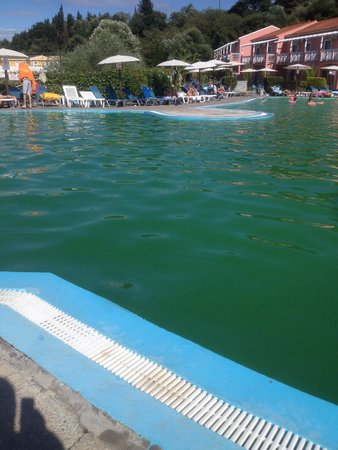 Cyprotel Corfu Panorama: Main pool at corfu panorama it's a total health hazard if a child fell in they would never be se