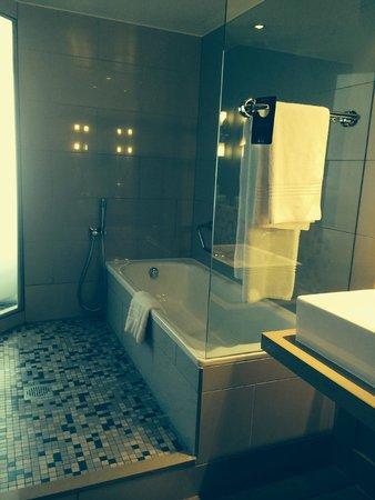Radisson Blu Gautrain Hotel: Bath and shower