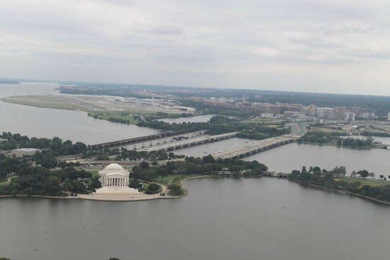 Jefferson Memorial: Exterior desde el Washington Monument