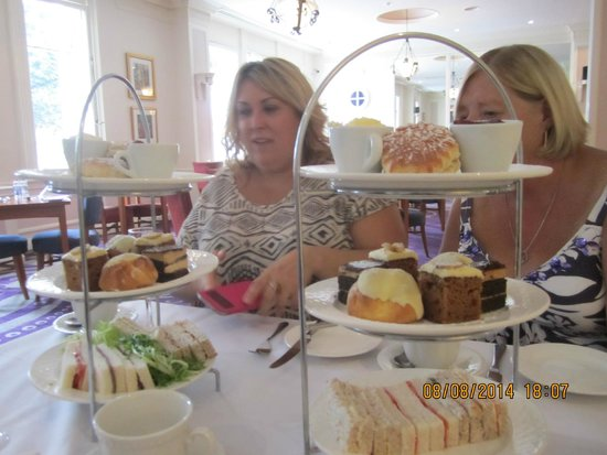 The Angel Hotel: Portion size of Afternoon Tea for four!