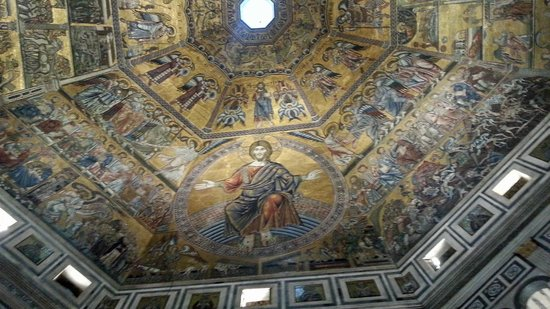 Baptistery of San Giovanni (Battistero): Ceiling mosaic of Last Judgement