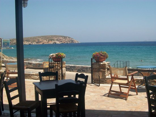 Ostria : The view from our table - perfect!
