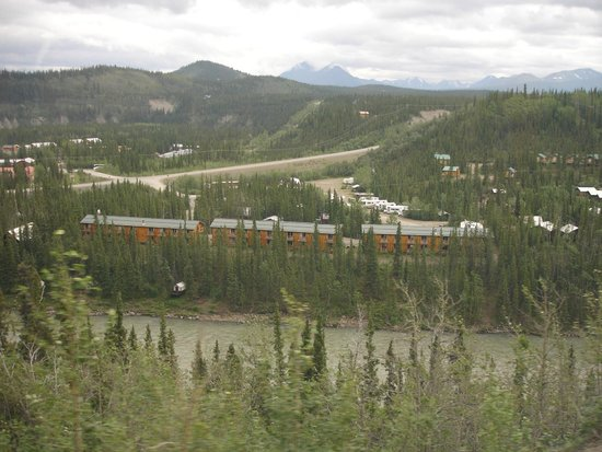"""Denali Grizzly Bear Cabins & Campground: The Denali Grizzly Bear """"Cedar Hotel"""" on the Nenana River"""