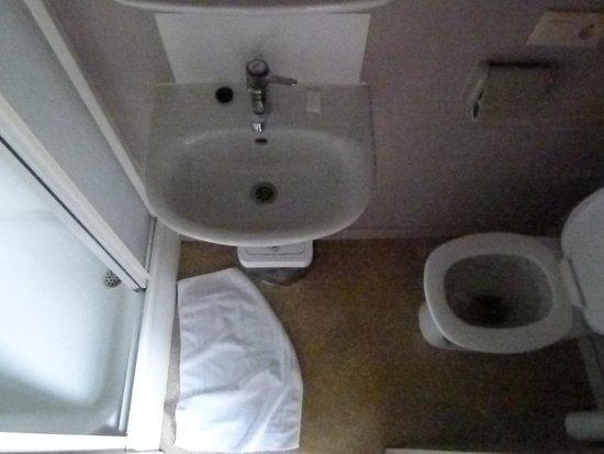 Hotel Cordoeanier: The tiny bathroom