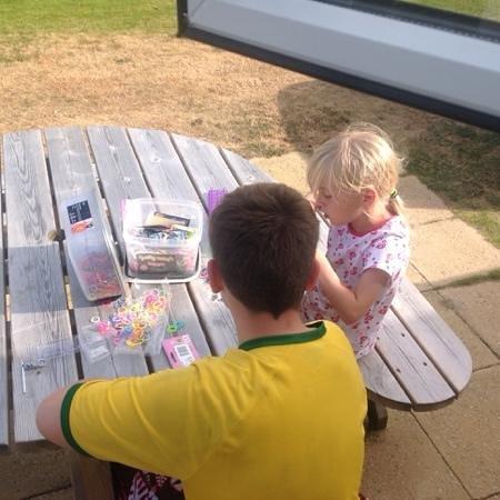 Kiln Park Holiday Centre - Haven: picnic table at side of caravan