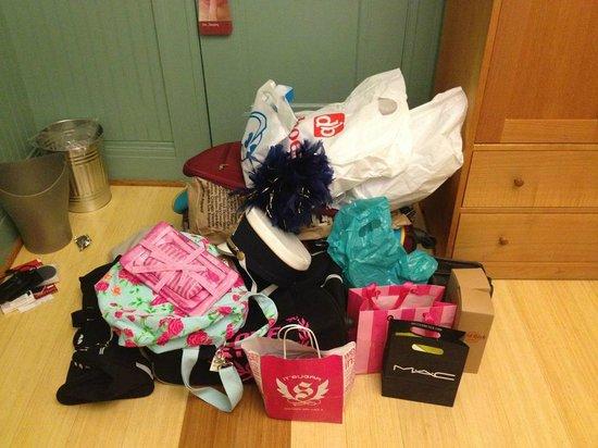 Hotel Triton: all my shopping!!!