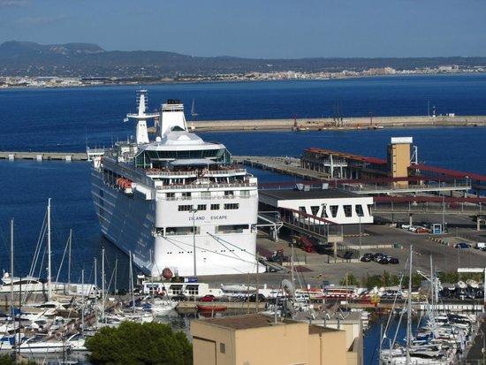Hotel Amic Horizonte: La vue sur la Port de Palma