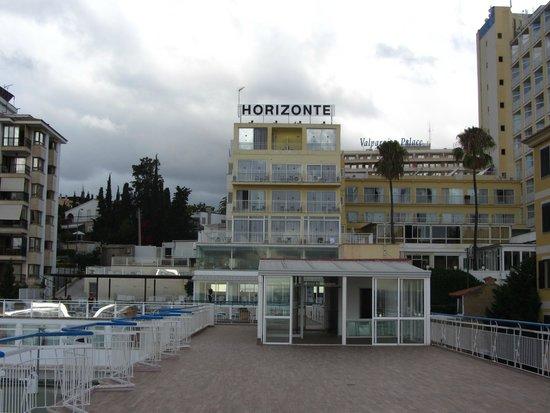 Hotel Amic Horizonte: L'hôtel vu depuis la terrasse