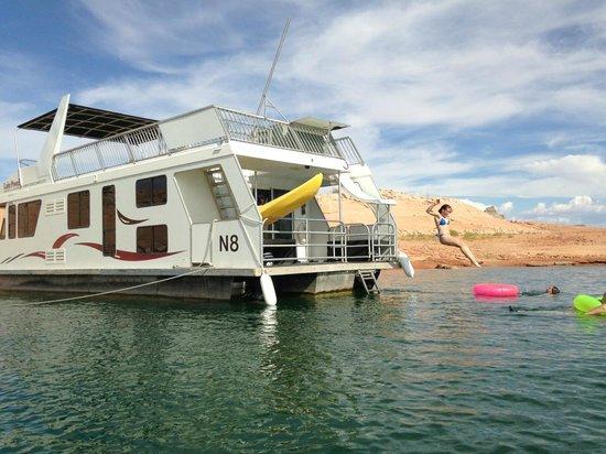 Lake Powell: fun on the boat