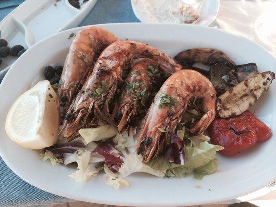 Amalthia Beach Resort: Extremely tasty shrimps !