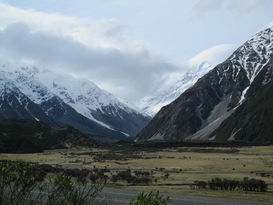 The Hermitage Hotel : View of Mount Cook from the chalet