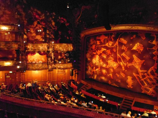 View Of Stage Picture Lyceum Theatre London Tripadvisor Seating Chart