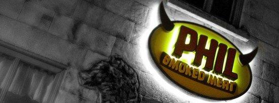 Phil Smoked Meat : Enseigne extérieur