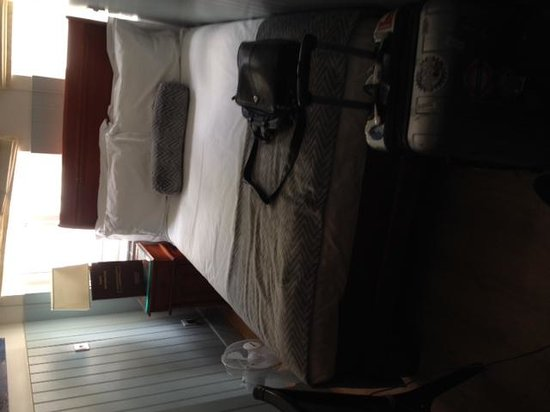 Mayflower Hotel: The bed occupies the whole room. It is scarcely larger than a single bed.