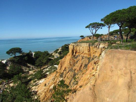Falesia Hotel: La falaise pour acceder a la plage