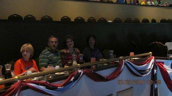 Showboat Branson Belle: Captain's Row seating