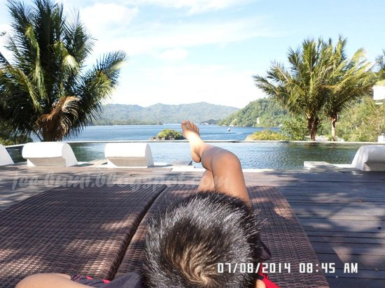 DABIRAHE Dive, Spa and Leisure Resort (Lembeh): Captivating View of Lembeh Strait from The Pool