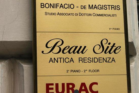 Beau Site - Antica Residenza: Signage