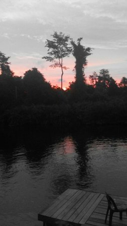 Borneo Proboscis River Lodge: Sunrise at the jetty