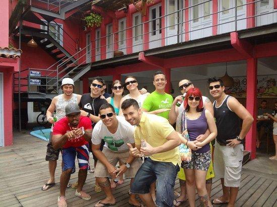 Bonita Ipanema Pousada & Hostel : A Turma Posando Antes de Ir à Praia!