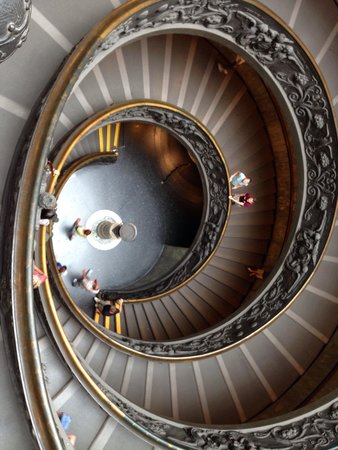 Vatican: Exit staircase is a work of art in itself!