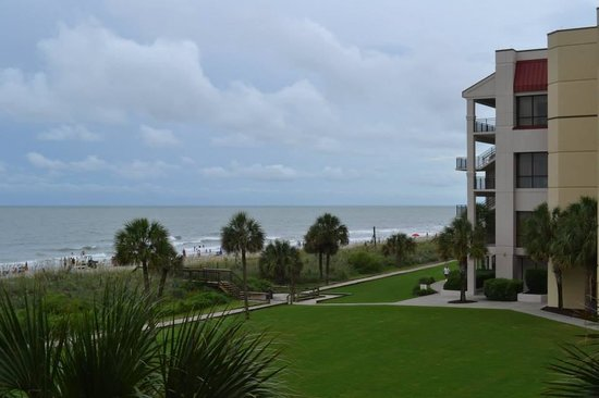 DoubleTree Resort by Hilton Myrtle Beach Oceanfront: the beach view from our balcony