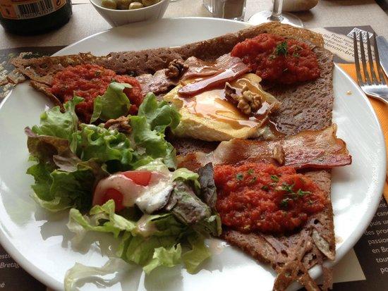 Creperie Les Ganivelles : mon assiette hier soir !