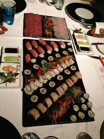 LUX Le Morne: Fabulous sushi platter