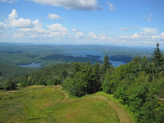 Mount Sunapee State Park and Ski Area: View from Sky Ride (chairlift) Mt. Sunapee State Park.