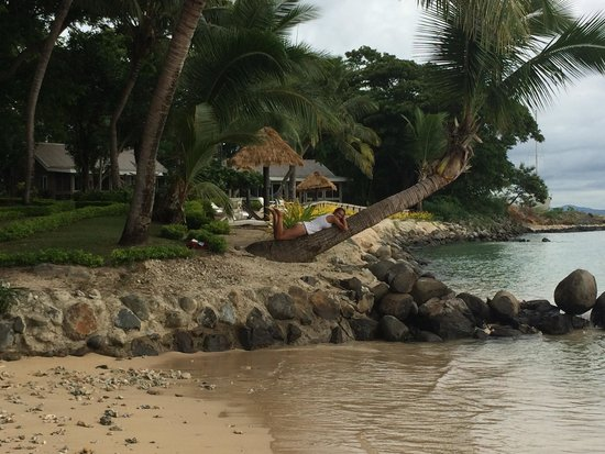 First Landing Beach Resort & Villas: Relaxing outside our bure