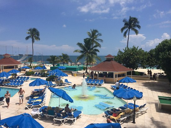 Breezes Resort & Spa Bahamas : View from the upper seating area