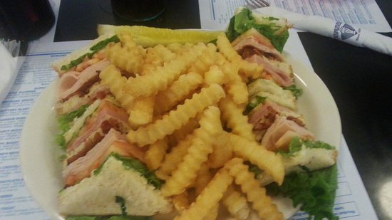 Dumser's Dairyland Drive-In - 49th Street: Club sandwich & fries is yummy