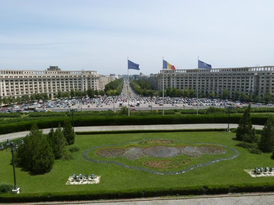 Palace of Parliament: View from balcony