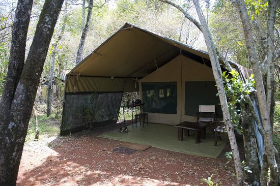 Mara Bush Camp has only 12  tents all with bathroom facilities.