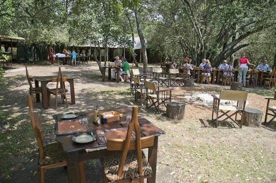 Mara Bush Camp : Meals are taken in outdoors if weather permits.