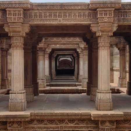 Adalaj Step-well: portals of the step-well