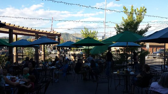 Lumberyard Brewing Company: The view from the patio