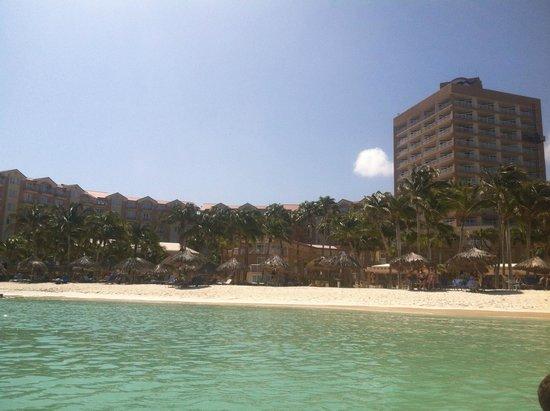 Divi Aruba Phoenix Beach Resort: Beach/Resort view from water