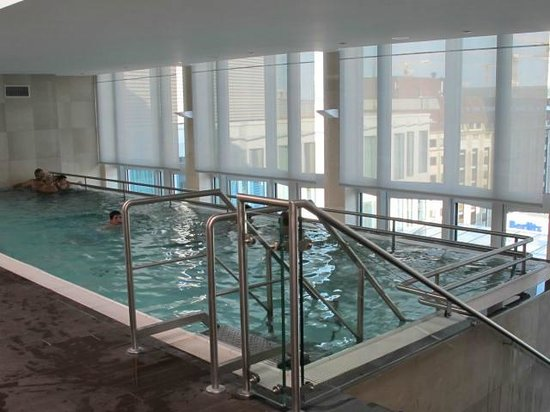 Top Floor Swimming Pool With One Of The Best Views Around Picture Of Eurostars Berlin Hotel