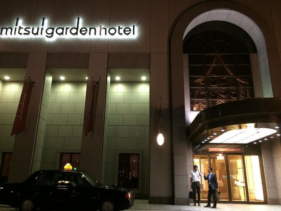 Mitsui Garden Hotel Hiroshima: There are always taxis available anytime.