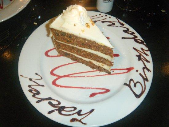 Tremendous Birthday Cake Picture Of Texas De Brazil Schaumburg Tripadvisor Personalised Birthday Cards Veneteletsinfo