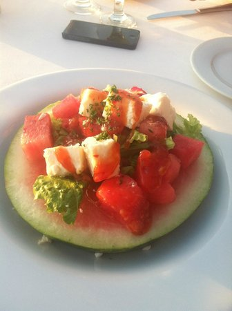 Passions on the Beach : Feta watermelon salad