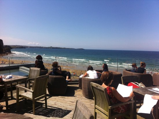 Watergate Bay Hotel: View from living space