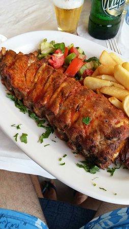 Mesogiako : Costine di maiale in salsa bbq